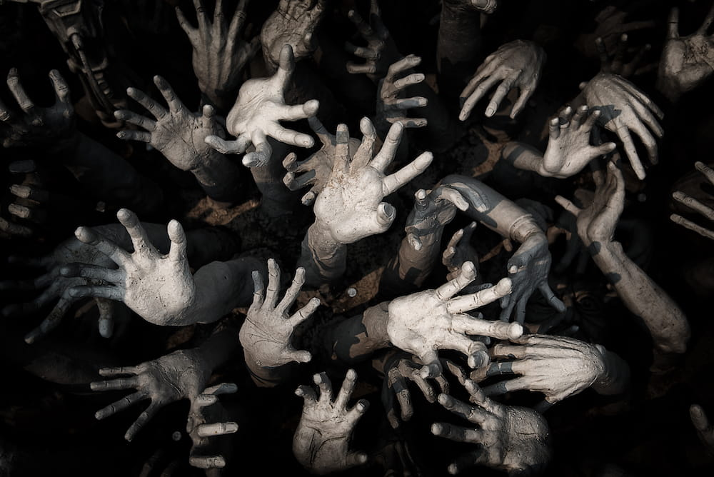 Hand ghosts by raybon009, licensed from iStock